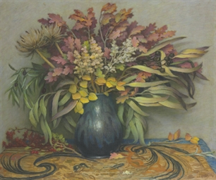Still Life with Autumn Leaves,