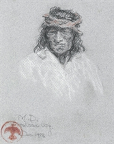 Portrait of an Apache Brave