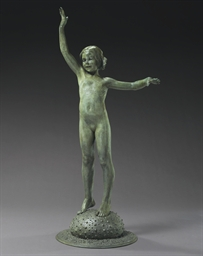'Sea Urchin,' a Bronze Figure