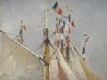 Masts and Flags, Dieppe, 1881
