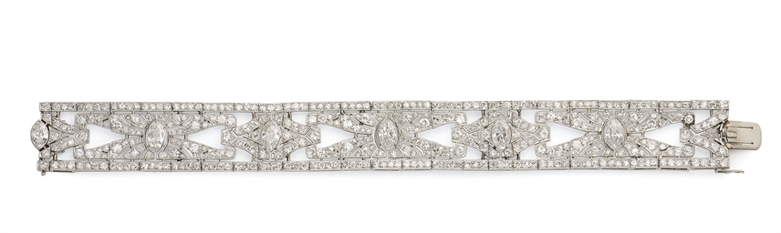 BRACELET ART DECO DIAMANTS