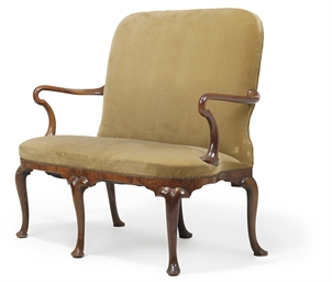 A GEORGE I WALNUT SETTEE