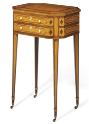 A GEORGE III SATINWOOD AND MAH