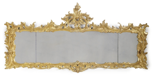 A GEORGE III GILTWOOD OVERMANT