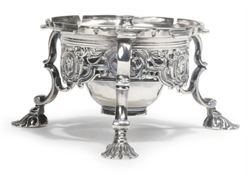A GEORGE II SILVER KETTLE STAN