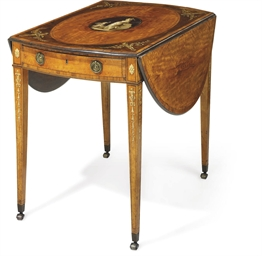 A GEORGE III SATINWOOD, AMARAN