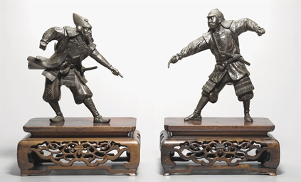 A Pair of Bronze Warriors