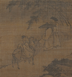 Two scholars and attendant