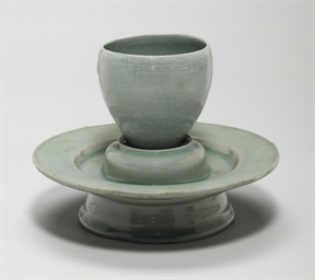 A Celadon Stoneware Cup and a