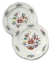 TWO ITALIAN PORCELAIN SHAPED PLATES