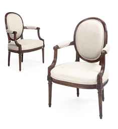 A PAIR OF LOUIS XVI BEECH FAUT