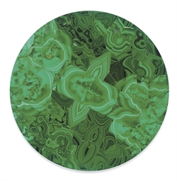 A MALACHITE VENEERED CIRCULAR