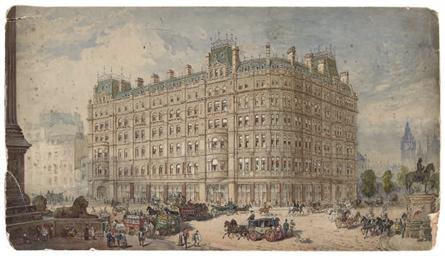 A view of Trafalgar Square
