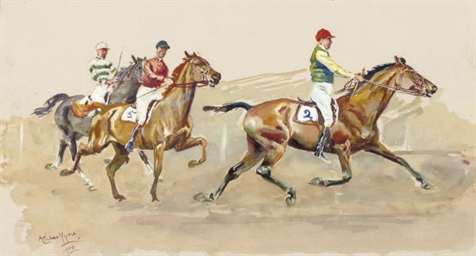 A trotting race (illustrated);