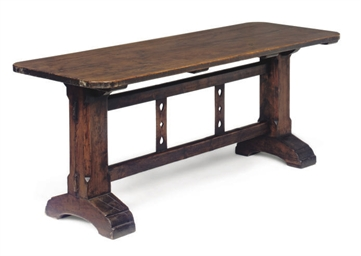 A VICTORIAN PINE TAVERN TABLE