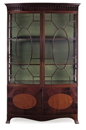 AN EDWARDIAN MAHOGANY, ASH AND