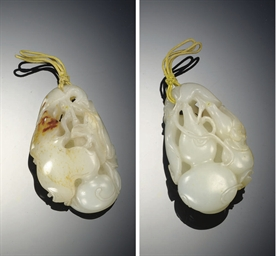 A FINE SMALL WHITE JADE OPENWO