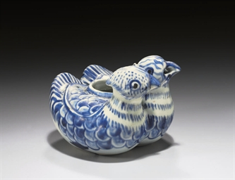 A BLUE AND WHITE 'DOUBLE DUCK'