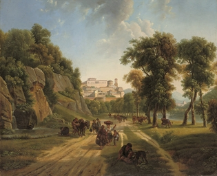 Travellers in an Italian lands