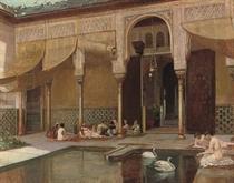 Feeding swans in the harem