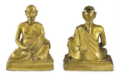A gilt bronze figure of an Arh
