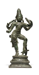 A small bronze figure of Karti