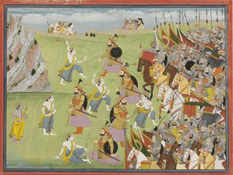 A painting from the Mahabharat