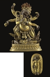 A Gilt Bronze Figure of Mahaka