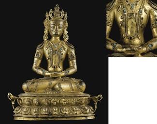A Gilt Bronze Figure of Kunzan