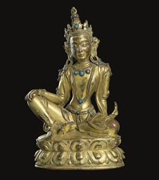 A Gilt Bronze Figure of a Bodh