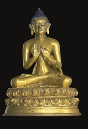 A Gilt Bronze Figure of Amogha