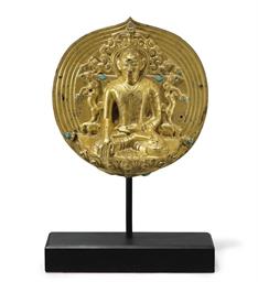 A gilt bronze plaque of a Kagy