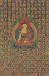 A thangka of Buddha Shakyamuni
