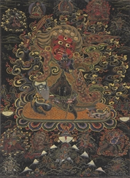 A blackground thangka of Begts