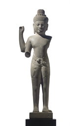 A sandstone figure of Vishnu