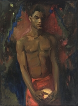 Young North African man posing