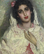 Portrait of a Spanish beauty