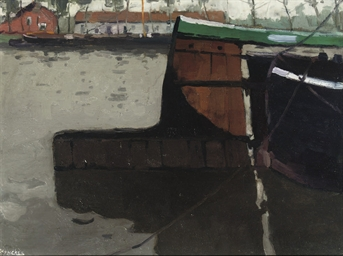 Two barges in a canal