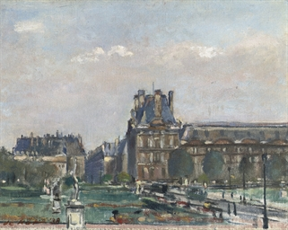 A view of the Louvre, Paris