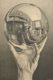 Hand with reflecting sphere (B