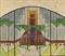 Schetsontwerp voor glas-in-loodraam, voordeur