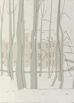 Kasteel Zijpendaal in de sneeuw