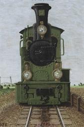 Portretje van een locomotiefje