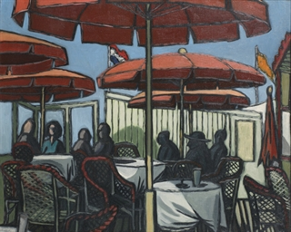 On the terrace, Scheveningen