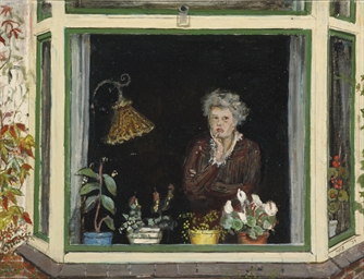 Old woman in the window