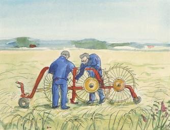 A haymaking machine on Tersche