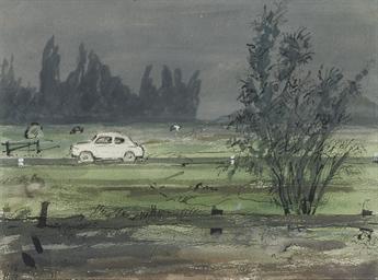 Onweer, Rijksweg bij Leiden