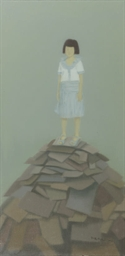 Girl on a pile