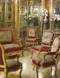 A NAPOLEON III GILTWOOD AND AU