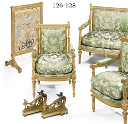 A FRENCH GILTWOOD THREE-PIECE